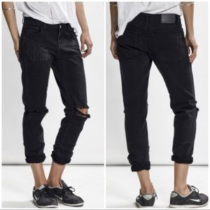 ONE TEASPOON BLACK OAK AWESOME BAGGIES JEANS 24